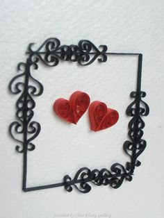 © Quilling with Fun- quilled valentine and heart cards (Searched by Châu Khang)