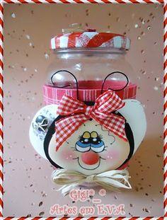 Gigi*_*Artes em E.V.A: Pote decorado abelhinha!