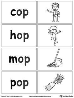 OP Word Family Workbook for Kindergarten - Use our OP Word Family Workbook to help your child develop a wide range of skills including phonics - The Words, 3 Letter Words, Letter Sounds, Education Quotes For Teachers, Quotes For Students, Quotes For Kids, Word Family Activities, Family Worksheet, English Phonics