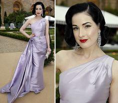 Dita Von Teese in Dior
