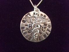 Registered Nurse Prayer Necklace by silverdragonfly260 on Etsy, $40.00-Monica