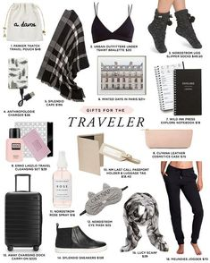 2016 Budget-Friendly Holiday Gift Guide Travel tips 2019 Budget-friendly holiday gifts for the traveler Travel Bag Essentials, Road Trip Essentials, Travel Checklist, Travel Necessities, Holiday Essentials, Travelling Tips, Packing Tips For Travel, Travel Hacks, Vacation Packing