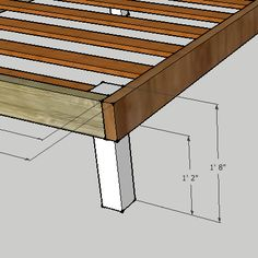queen bed framespallet projectswoodworking projectsdiy projectsbed plansdiy - Simple Wood Bed Frame