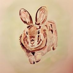 Bounding rabbit drawn in ink Sketches, Drawings, Rabbit Drawing, Painting, Illustration Art, Ink Drawing, Art, Ink, Draw