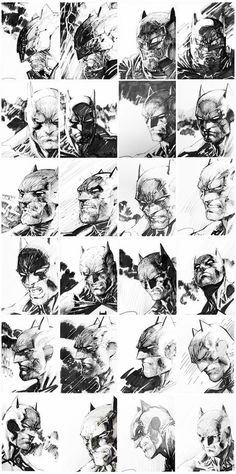 Super Rare: Dark Knight III Jim Lee 5K 1:5000 original cover sketches!