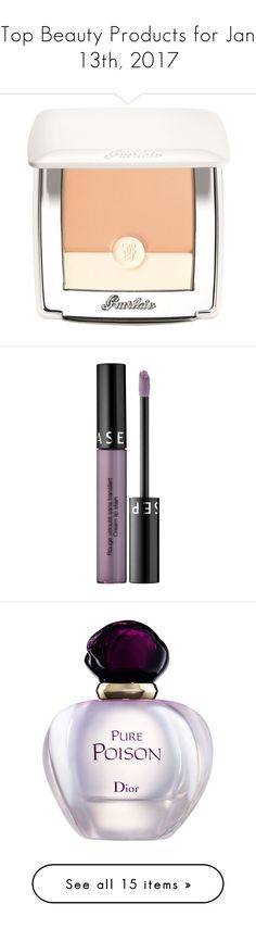 """""""Top Beauty Products for Jan 13th, 2017"""" by polyvore ❤ liked on Polyvore featuring beauty products, makeup, face makeup, foundation, guerlain foundation, guerlain, lip makeup, sephora collection, fragrance and christian dior perfume"""