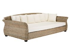 Sofa Lounger Vamita aus Rattan