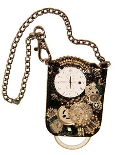 Steampunk Necklace Made of Vintage Mechanical Watch Parts.