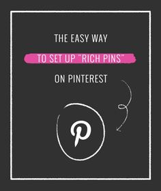 "The Easy Way to Set Up ""Rich Pins"" on Pinterest. BEST rich pin tutorial out there."