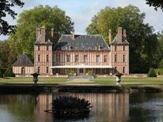 Tour a Historic Brick Residence in Proche Dreux, France | HGTV.com's Ultimate House Hunt >> http://www.hgtv.com/design/ultimate-house-hunt/2015/homes-with-a-history/homes-with-a-history-regal-residence-in-proche-dreux-france?soc=pinhuhh