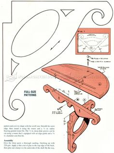 #545 Victorian-Style Wall Shelf Plans - Woodworking Plans