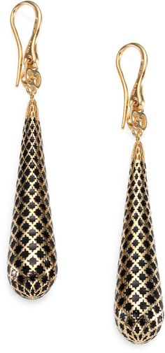 GUCCI Diamantissima 18k Gold Enamel Earrings