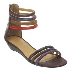 """Strappy 1.5"""" sandal  with leather upper.  Back zipper closure."""