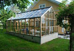 Växthus i cederträ