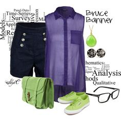 """""""Bruce Banner/the Hulk Inspired Outfit"""" by rubytyra on Polyvore"""