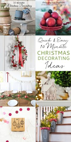 Running out of time, but still need to decorate for Christmas? Check out this collection of decorating ideas that you can do in under 10 minutes!