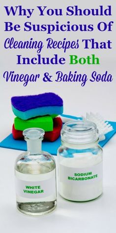 Here's why vinegar and baking soda, separately, work so well for cleaning, but combined they don't actually produce good cleaning results. This will explain why you should be suspicious of homemade cleaning recipes you see that include both vinegar and baking soda. #ad