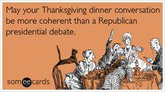 Ah, Republican debates.