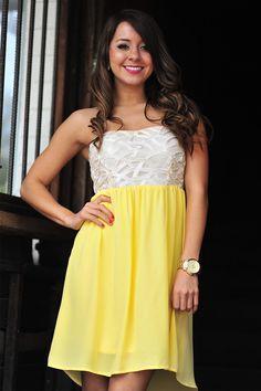 Completely Intertwined Dress: Lemon   Hope's