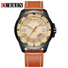 Curren luxury quartz watch Casual Leather watches reloj masculino men watch Sports Watches 8213