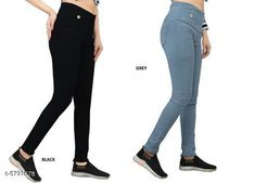Checkout this latest Jeggings Product Name: *Elegant Fashionista Women Jeggings* Sizes:  28 (Waist Size: 28 in, Length Size: 38 in, Hip Size: 32 in)  32 (Waist Size: 32 in, Length Size: 38 in, Hip Size: 36 in)  34 (Waist Size: 34 in, Length Size: 38 in, Hip Size: 38 in)  36 (Waist Size: 36 in, Length Size: 38 in, Hip Size: 40 in)  38 (Waist Size: 38 in, Length Size: 38 in, Hip Size: 42 in)  40 (Waist Size: 40 in, Length Size: 38 in, Hip Size: 44 in)  Country of Origin: India Easy Returns Available In Case Of Any Issue   Catalog Rating: ★4 (365)  Catalog Name: Elegant Fashionista Women Jeggings CatalogID_872087 C79-SC1033 Code: 718-5791578-7422