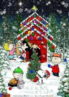 Snoopy Merry Christmas 🎄💓🥰 - esnoopy.com Winter Christmas Scenes, Merry Christmas Pictures, Christmas Scenery, Merry Christmas Images, Peanuts Christmas, Merry Christmas Wishes, Christmas Cartoons, Charlie Brown Christmas, Christmas Art
