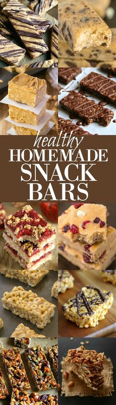 Don't pay an arm and a leg for mediocre store-bought bars! Make AMAZING ones at home with this collection of healthy recipes! Make a snackbar today--change your world! What a great idea.