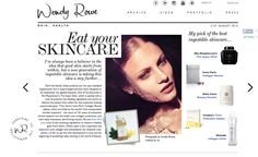 """Eat your #skincare"" Or in our case drink it. 100% liquid=100% #Bioavailability Great recommendation @wendyrowemakeup"