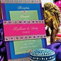Invitación de boda India Bejeweled por withanindiantouch en Etsy