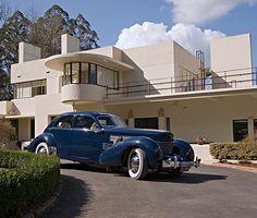 1937 Cord 812 Westchester sedan at Dalcrombie house in Olinda, a suburb of Melbourne, Victoria, Australia.