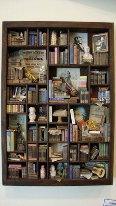 "Miniature mini libraries thematic ""Classical Music"". €550.00, via Etsy."
