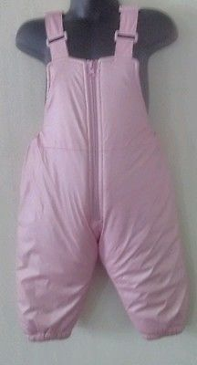 French toast toddler girls snow suit pants overalls cozy warm sz 18 months pink