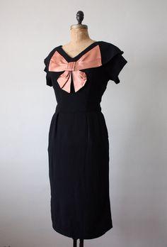 Vintage 1940's satin bow party dress.
