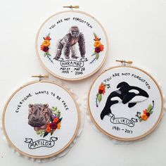 "1,610 Likes, 41 Comments - Jessica Long (@namaste_embroidery) on Instagram: ""And the final hoop in this series is Harambe, the beautiful silver back gorilla who lost his life…"""
