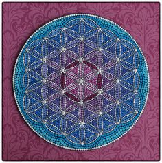 Original Mandala Painting- Heart Expansion Flower of Life