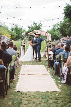 Beautiful bohemian wedding ceremony.