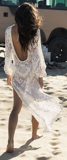 Gorgeous boho lace summer beach dress