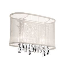 Dainolite Lighting (85306W-46-117) 1 Light Crystal Sconce in Polished Chrome