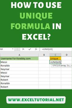 Use of this formula: It helps to gets the unique values of a list in Excel. - Excel formulas and functions - Basic Excel Formulas Computer Help, Computer Programming, Computer Literacy, Microsoft Excel Formulas, Excel For Beginners, I Need A Job, Excel Hacks, Marketing Budget, Data Science