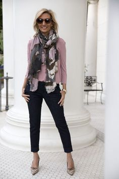 New blog story this week featuring our Abstract print scarf and Mauve Criss Cross Top both available in our shop www.jacketsociety.com