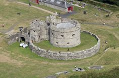 Pendennis Castle near Falmouth in Cornwall - aerial image   by John D F