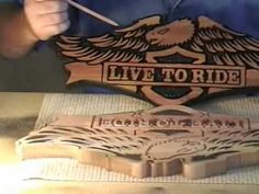 #22 Video  How to Carve Wood Signs - Part 5 of 7 Live to Ride