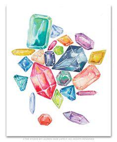 Multi-Colored Gemstone Cluster