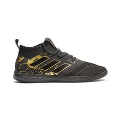 Adidas by Pogba Ace Tango 17.1 low-top trainers ($125) ❤ liked on Polyvore featuring men's fashion, men's shoes, men's sneakers, black multi, shoes, adidas mens sneakers, mens low profile shoes, mens black shoes, mens low profile sneakers and adidas mens shoes