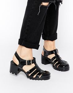 Enlarge Truffle Collection Jelly Heeled Sandals