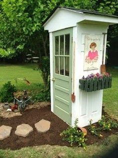 Even tiny sheds can be charming and precocious.