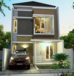 Trendy Home Design Simple Floor Plans Ideas Minimalist House Design, Small House Design, Minimalist Home, Modern House Design, Simple Floor Plans, Small House Floor Plans, 3d Home, Facade Design, Simple House