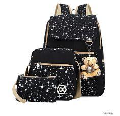 Women Backpack For TeenageR Girls School Bags Floral Printing Backpack Set 3 pcs bag backpack sets