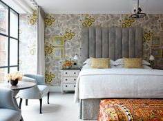 Ham Yard Hotel One-bedroom Suite Soho Hotel, London Hotels, One Bedroom, Bedroom Decor, Bedroom Suites, Bedroom Apartment, Modern Bedroom, Design Blog, Design Ideas