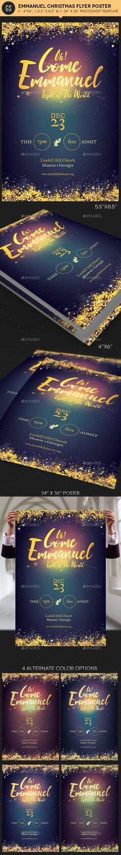 Emmanuel Christmas Cantata Flyer / Poster Template PSD